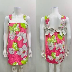Lilly Pulitzer Sleeveless Bows Floral Shift Dress